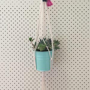 Tassel top macrame hanger. Handmade in Australia.