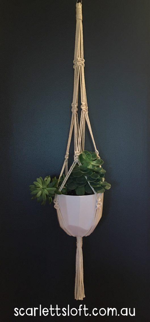 Handmade macrame hanger.